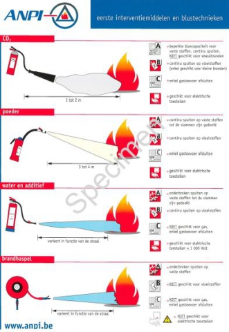 Poster A4 - Middelen van eerste interventie