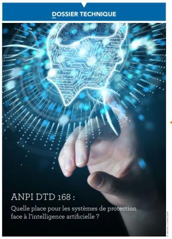 DTD 168 Quelle place pour les systèmes de protection  face à l'intelligence artificielle ?
