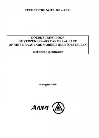 NTN 105 Goedkeuring ASSURALIA voor brandblussers