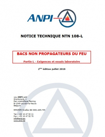 NTN 108-L Non-fire propagating bins : Requirements and test methods