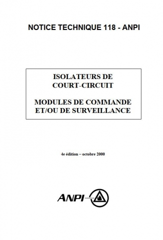NTN 118 Isolateurs de court-circuit -