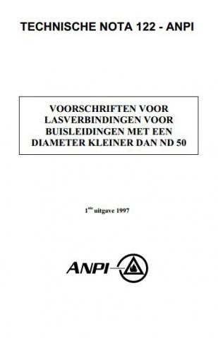 NTN 122 Voorschriften voor lasverbindingen voor sprinklerleidingen