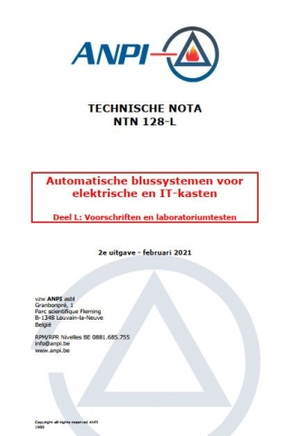 NTN 128 Automatic extinguishing systems for electrical cabinets and IT cabinets Part L: Laboratory requirements and tests F