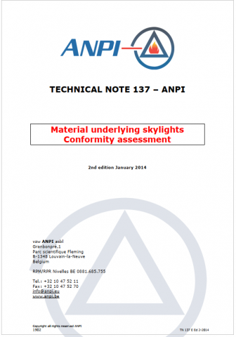 NTN 137 Material underlying skylights (E )