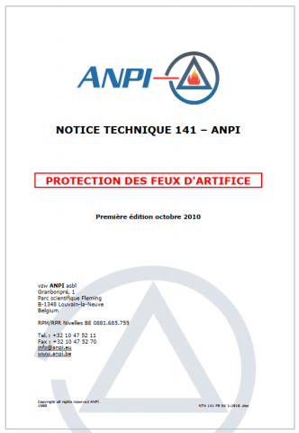 NTN 141 Protection des feux d'artifices