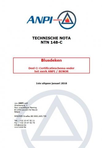 NTN 148-C Blusdeken : Deel C : Certificatieschema onder het merk ANPI/BENOR