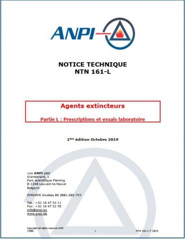 NTN 161 L - Agents extincteurs : Partie L : Prescriptions et essais laboratoire