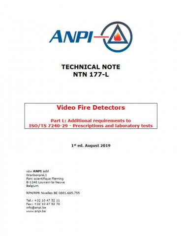 NTN 177-L Video fire detectors