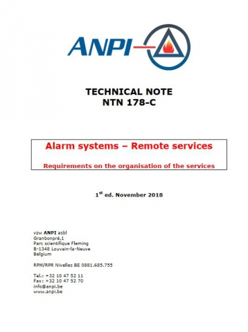 NTN 178-C Alarm systems - Remote services