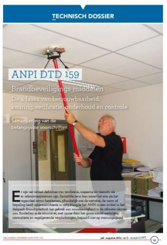 DTD 159 Brandbeveiligingsmiddelen - Verificatie, onderhoud, contrôle