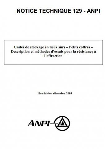 NTN 129 Coffres - résistance à l'effraction