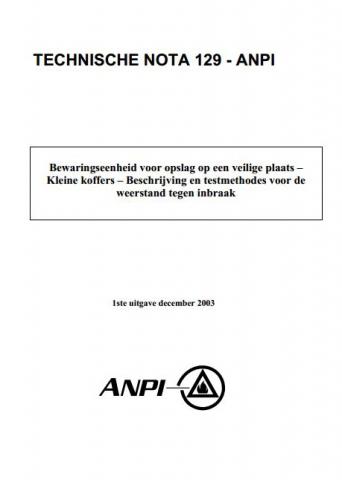 NTN 129 Koffers - Weerstand tegen inbraak