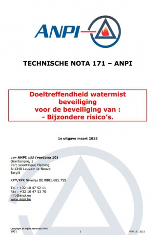 NTN 171 Special risks protection efficiency by watermist protection (N)