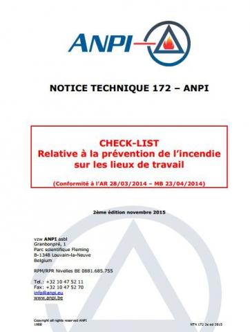 NTN 172 Fire prevention check list  (F/N)