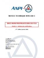 NTN 108-C Bacs non propagateurs du feu : Partie C : Schéma de certification