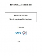 NTN 124 Remote panel - Requirements and test methods