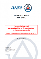 NTN 179-L Compatibility and connectability of fire detection system components