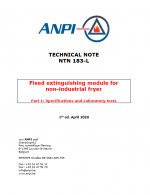 NTN 183-L Fixed extinguishing module for non-industrial fryer Part L