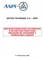 NTN 112  Modules d'extinction pour chaudières