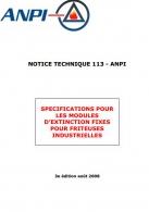 NTN 113 Fire extinguishers for industriel fryer (F/N)