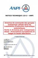 NTN 123-2 Installations d'extinction hydraulique automatiques - 2: Armoires pour motopes diesel - Prescription européennes et belges et essais laboratoire