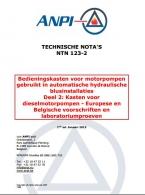 NTN 123-2 Automatische hydraulische blusinstallaties -2: Kasten voor dieselmotorpompen - Europese en Belgische voorschriften en laboratoriumproeven