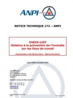 NTN 172 Check-list Prévention de l'incendie sur les lieux de travail